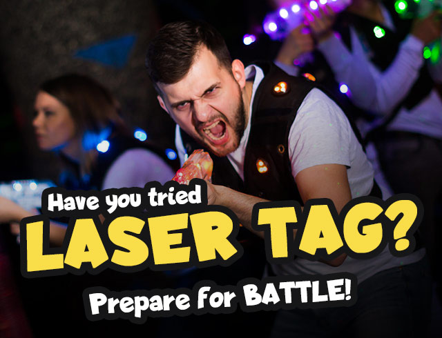 Have you tried laser tag? Prepare for battle!